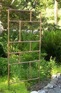 copper pipe trellis dishfunctional designs the upcycled garden volume 3