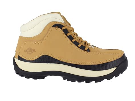 womens lightweight leather safety steel toe cap lace up
