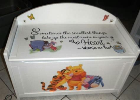winnie the pooh toy box bench 33 best images about winnie the pooh nursery on pinterest