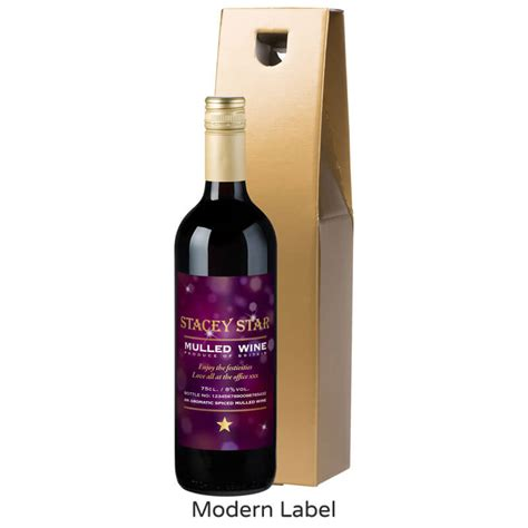 personalised bottle of mulled wine buy from prezzybox com