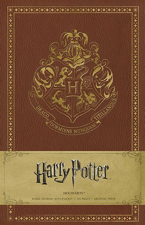 harry potter hogwarts ruled notebook books harry potter hogwarts hardcover ruled journal book by