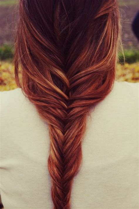 braided hairstyles red hair loose fishtail braided hairstyle braids pinterest