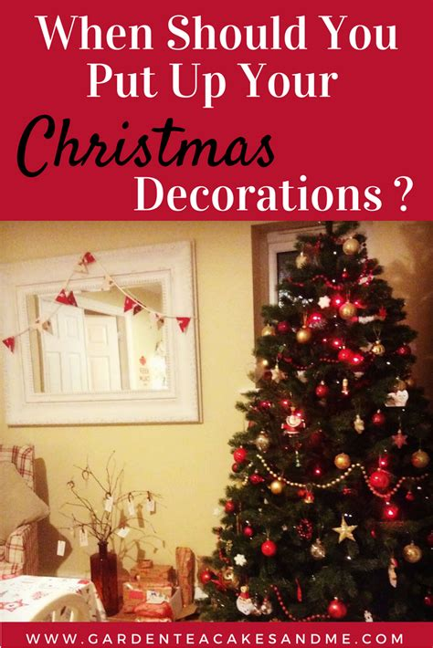 when should you put up your christmas decorations