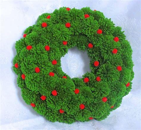 green wreath pom pom wreath by pompommyworld