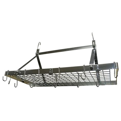 range kleen stainless steel pot rack rectangle cw6014