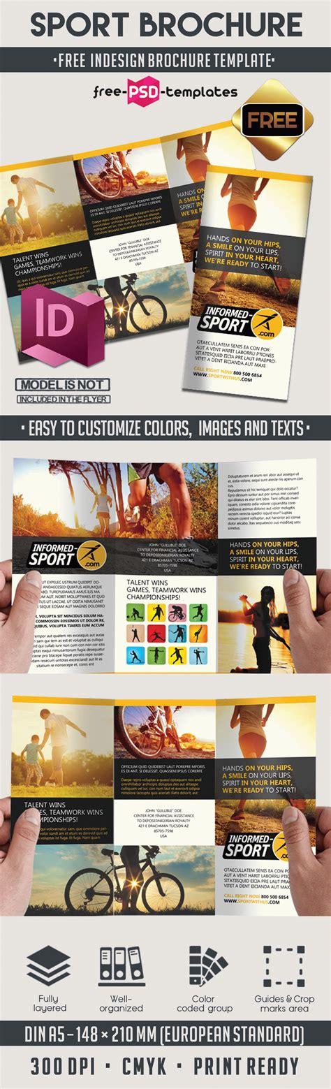 Sport Free Indd Tri Fold Brochure Template Free Psd Templates Sport Brochure Templates Free