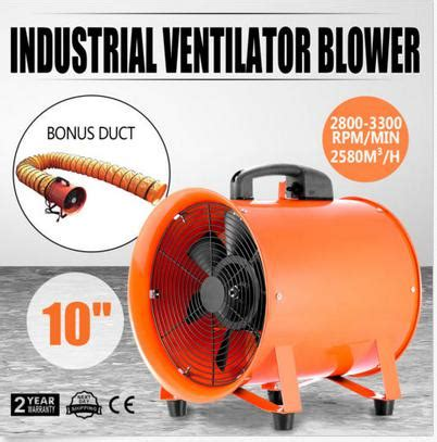 Portable Ventilator Blower Exhaust 10 Westco utility blower fan 10 inch portable ventilator high velocity utility blower mighty mini low
