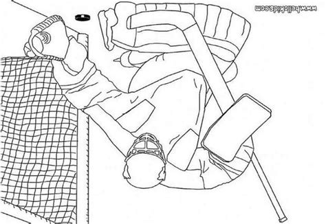 pin hockey goalie colouring pages on pinterest