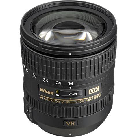 Lensa Nikon Af S 16 85mm nikon af s dx nikkor 16 85mm f 3 5 5 6g ed vr lens 2178 b h