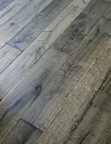 Gray Hardwood Floors by Manoir Gray Custom Aged Oak Floors Traditional