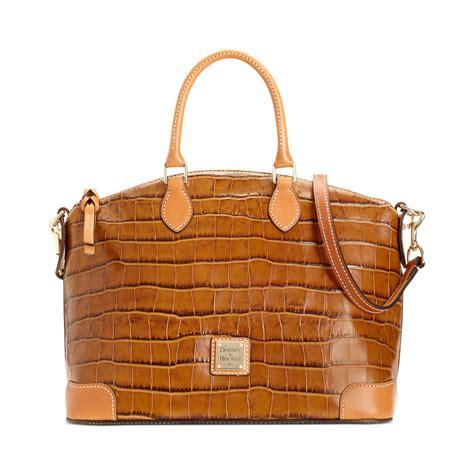 Croco Bag by Dooney Bourke Croco Satchel In Brown Cognac Lyst