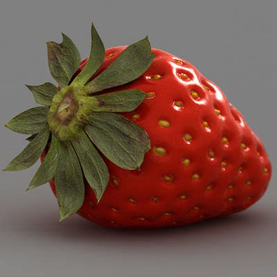 3d 3 Strawberry 3d Strawberry Model
