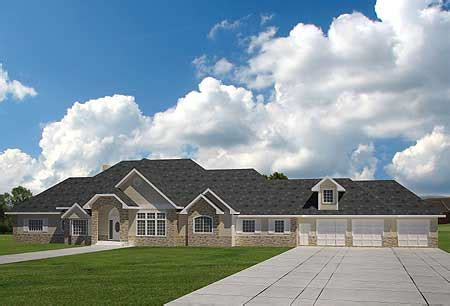 large ranch homes extra large ranch home plan 35404gh architectural