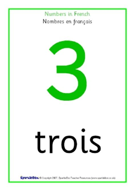 printable french numbers poster french foreign language mfl primary teaching resources