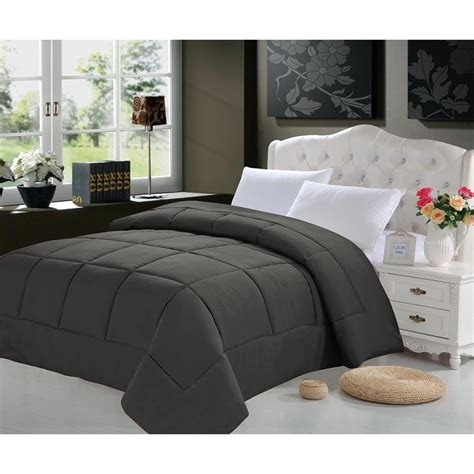 twin xl grey comforter all season down alternative comforter polyester cover fill