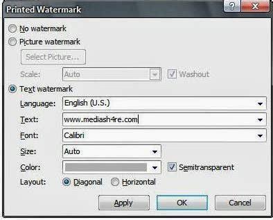 cara membuat watermark ms word 2013 cara membuat watermark pada microsoft word