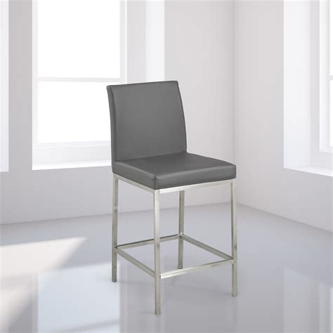 Counter Chairs by Grey Leatherette Counter Chair Xcella