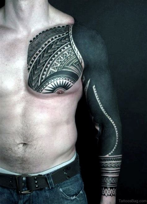 tribal tattoos chest and arm 59 great tribal tattoos on chest