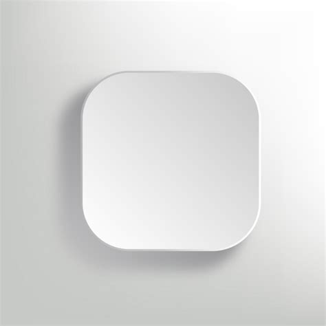 vector white blank button app icon template free vector