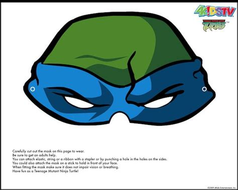 printable leonardo mask free ninja turtle printable masks ninja turtle party