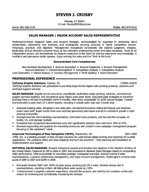 sle account manager resume objective resume bullet points for retail sales