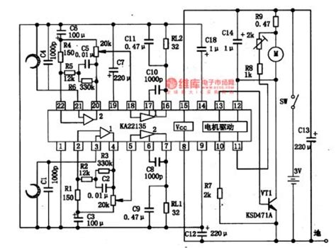 which is a single integrated circuit ka22135 the single chip stereo playback integrated circuit circuit diagram world