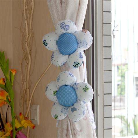 curtain tie backs for childrens rooms ebluejay 2pcs flower shape living room window curtain tie