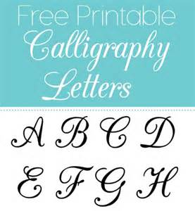 Free Printable Letter Templates by Free Printable Calligraphy Letters