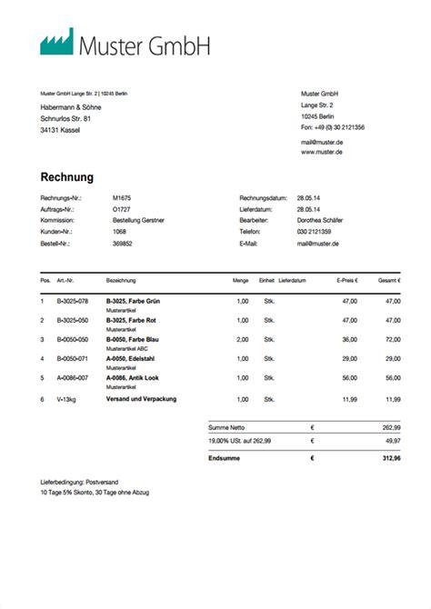 Musterrechnung 14 Ustg Rechnungsvorlage Word Rechnungsmuster I Weclapp