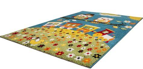 tapis chambre tapis pour chambre enfant blue hibou pas cher