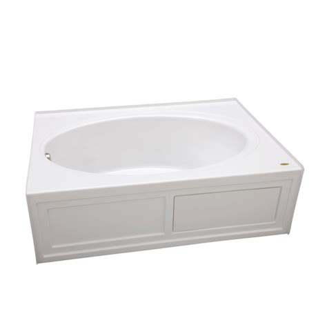 bathtubs 60 x 42 shop jacuzzi nova acrylic oval in rectangle skirted
