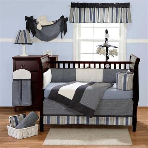 navy blue crib bedding 3pc striped grey white black blue navy solid color crib bedding set for boys