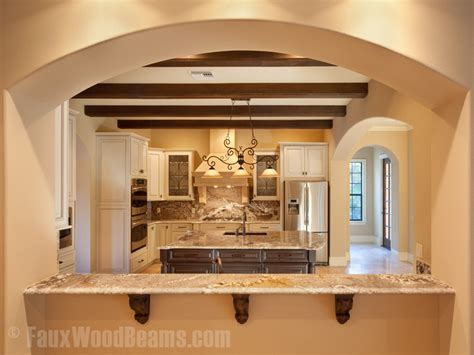 Chamfered Ceiling Kitchens With Beams On The Ceiling Talkbacktorick