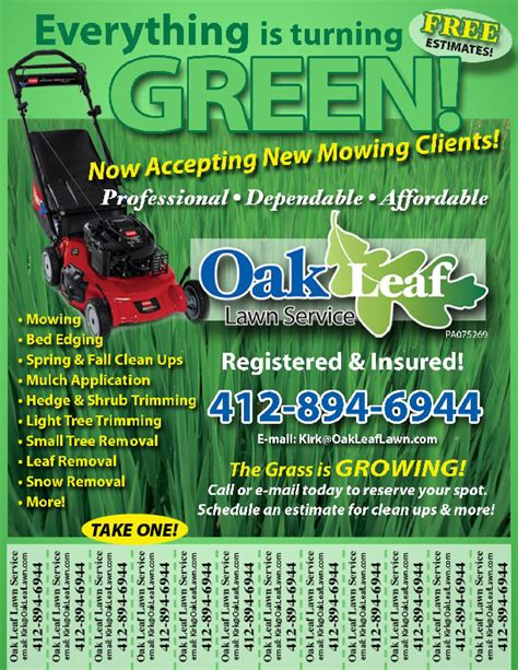 lawn care advertising templates sles of lawn care quotes quotesgram
