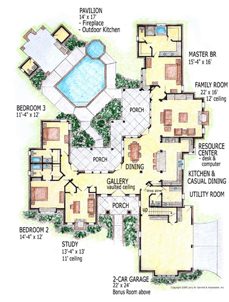 house plans with outdoor living outdoor living spaces family home plans