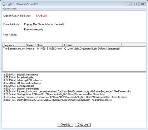 light o rama hardware utility control panel