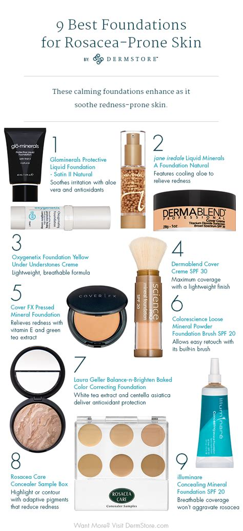best makeup for rosacea sufferers foundations that won t irritate sensitive skin dermstore