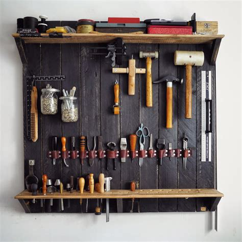 Tool Wall Storage Rack by A Wall Mounted Rack For Leatherworking Tools