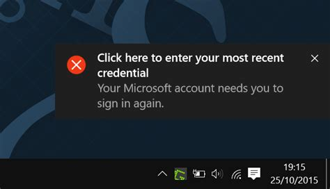 most recent fixer fix click here to enter your most recent credential in windows 10
