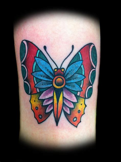 traditional butterfly tattoo joseph scissorhands butterfly tattoos
