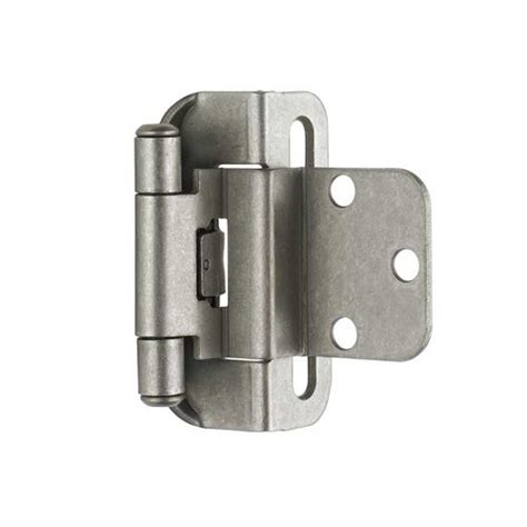 semi concealed cabinet hinges amerock partial wrap 3 8 quot inset hinge weathered nickel