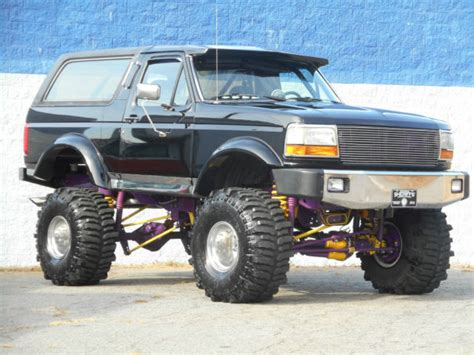 bronco car lifted 1993 ford bronco xlt 4x4 19k original custom