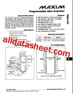 maxim integrated products switzerland ag pga100ag データシート pdf maxim integrated products