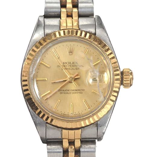Rolex 3 2cm rolex oyster perpetual datejust stainless steel and 18ct