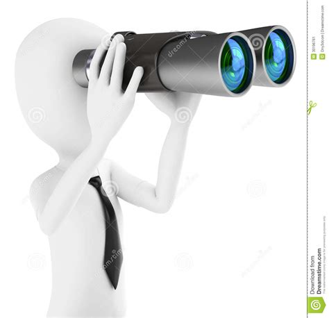 What Are Companies Looking For In A Background Check 3d Businessman Holding Binoculars Looking For Opportunities Stock Image Image