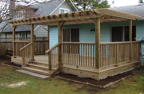 Deck With Pergola Flowers And Yard Pinterest Pictures Of Pergolas On Decks