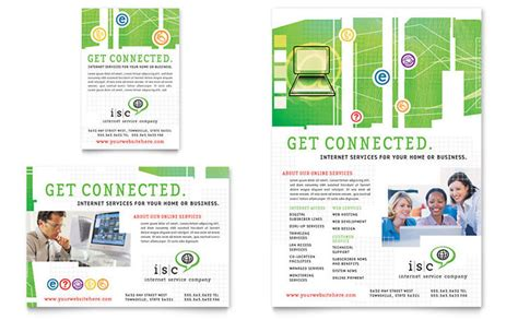 computer repair flyer template word isp service flyer ad template design