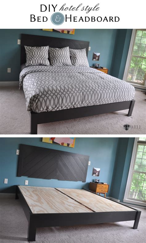 diy headboards for size beds diy hotel style headboard platform bed inkwell press