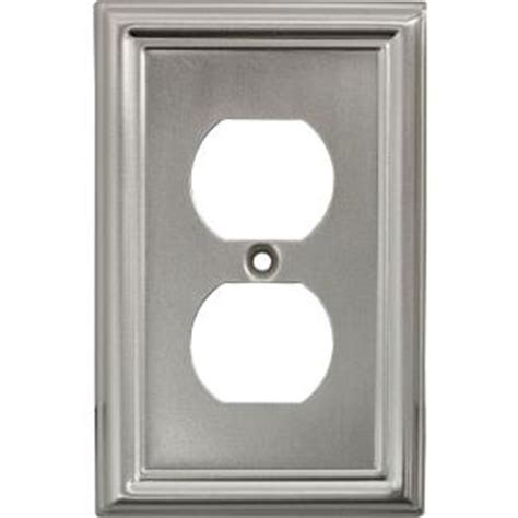 Faux Brushed Nickel Paint - power gear 2 receptacle steel wall plate faux brushed nickel 40308 the home depot