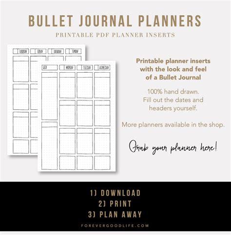 printable bullet journal bullet journal printables